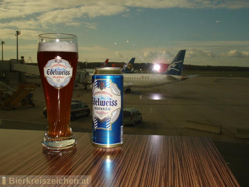 Foto eines Bieres der Marke Edelweiss Hofbräu aus der Brauerei Brau Union