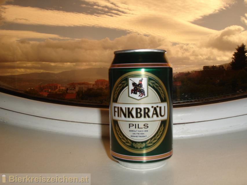 Foto eines Bieres der Marke Finkbräu Pils aus der Brauerei Lidl