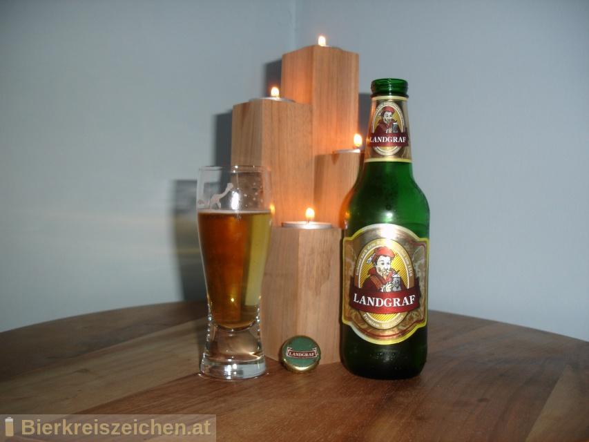 Foto eines Bieres der Marke Landgraf - Premium Märzenbier aus der Brauerei Delikatessa