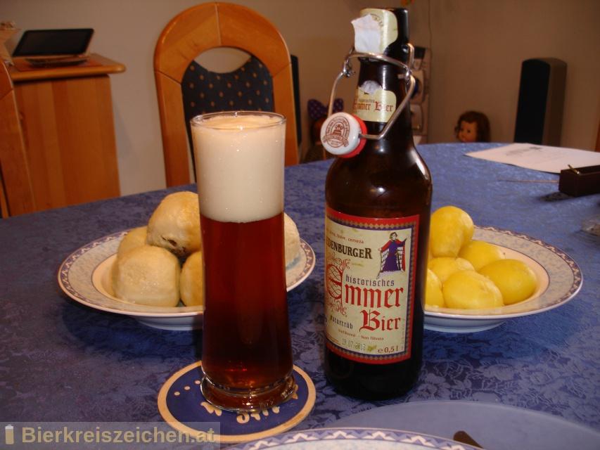Foto eines Bieres der Marke Riedenburger historisches Emmerbier aus der Brauerei Riedenburger Brauhaus