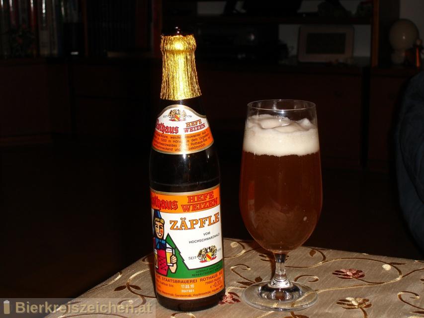 Foto eines Bieres der Marke Rothaus Hefeweizen aus der Brauerei Badische Staatsbrauerei Rothaus AG