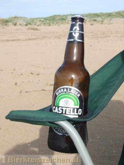 Foto eines Bieres der Marke Castello Premium aus der Brauerei Birra Castello