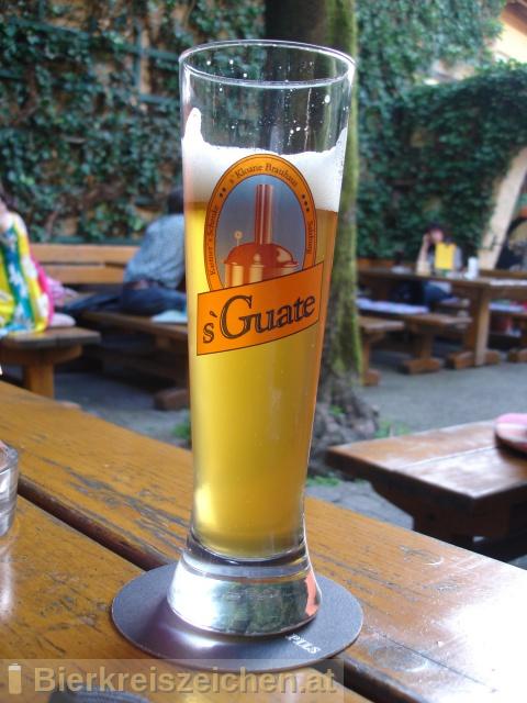 Foto eines Bieres der Marke s`Guate Gerstl aus der Brauerei s'Kloane Brauhaus