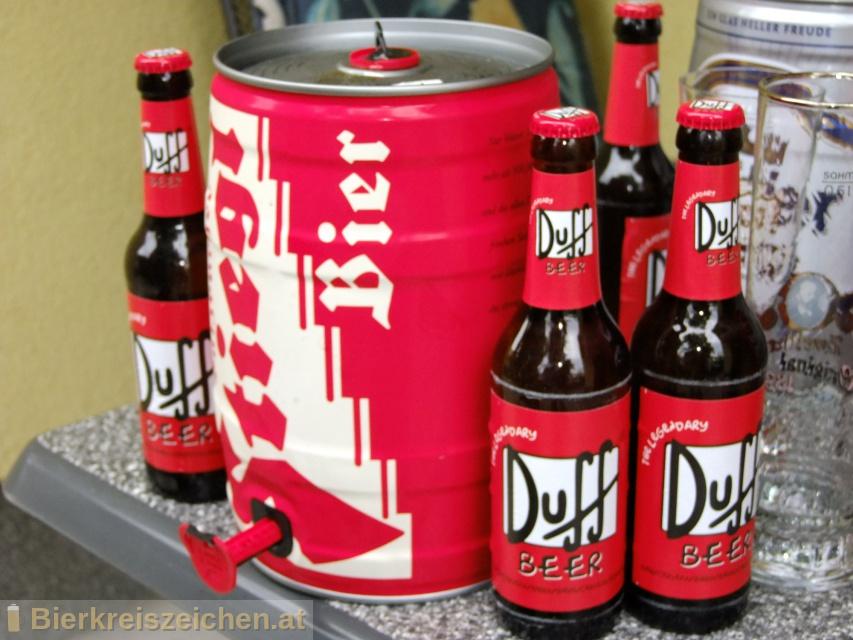 Foto eines Bieres der Marke Duff beer aus der Brauerei Eschweger Klosterbrauerei GmbH