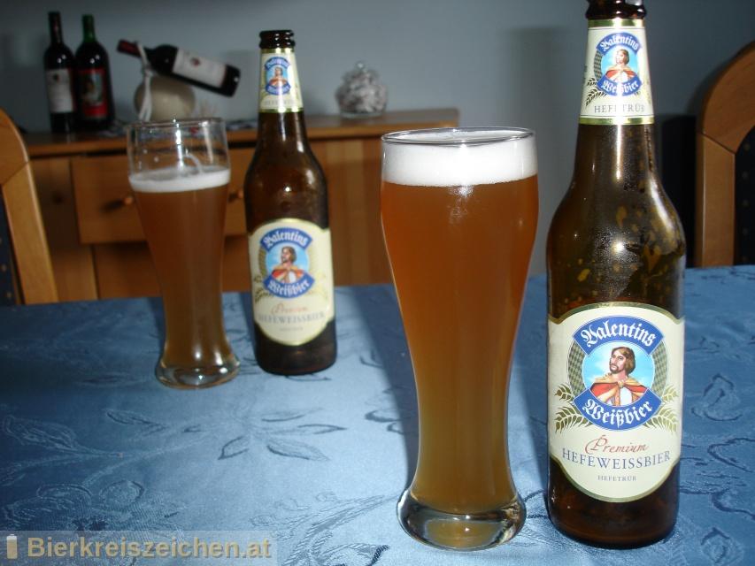 Foto eines Bieres der Marke Valentins Weißbier - Premium Hefeweissbier aus der Brauerei Privatbrauerei Eichbaum