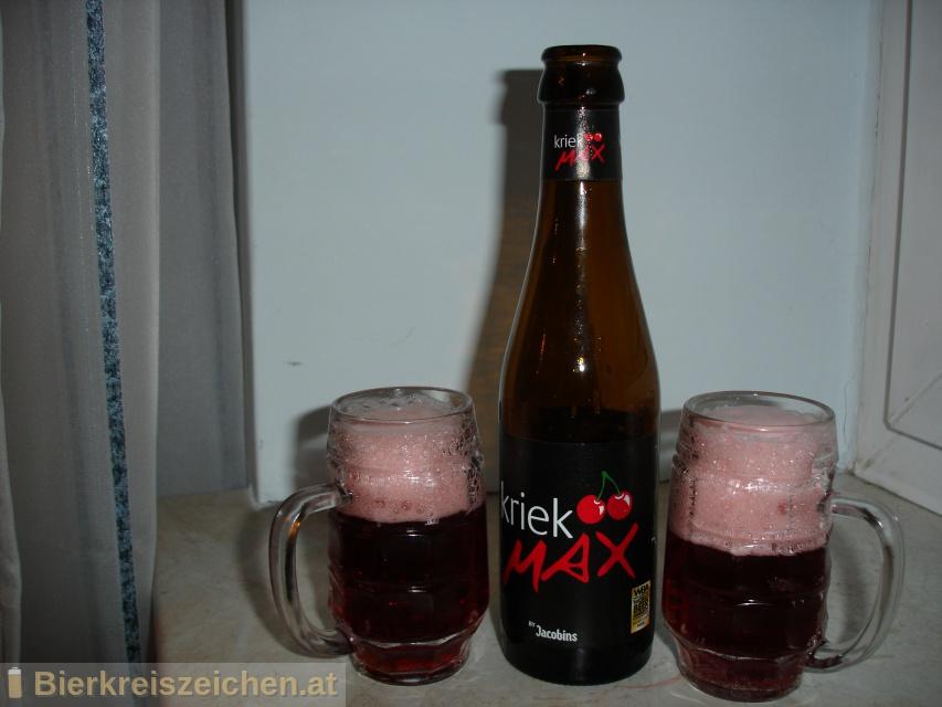 Foto eines Bieres der Marke Kriek Max aus der Brauerei Brouwerij Bockor
