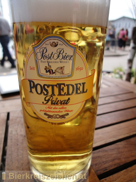 Foto eines Bieres der Marke PostEdel aus der Brauerei Post Brauerei und Siebers-Quelle Anton Zinth GmbH & Co. KG