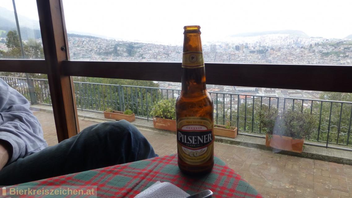 Foto eines Bieres der Marke Cerveza Pilsener aus der Brauerei Cervecería Nacional