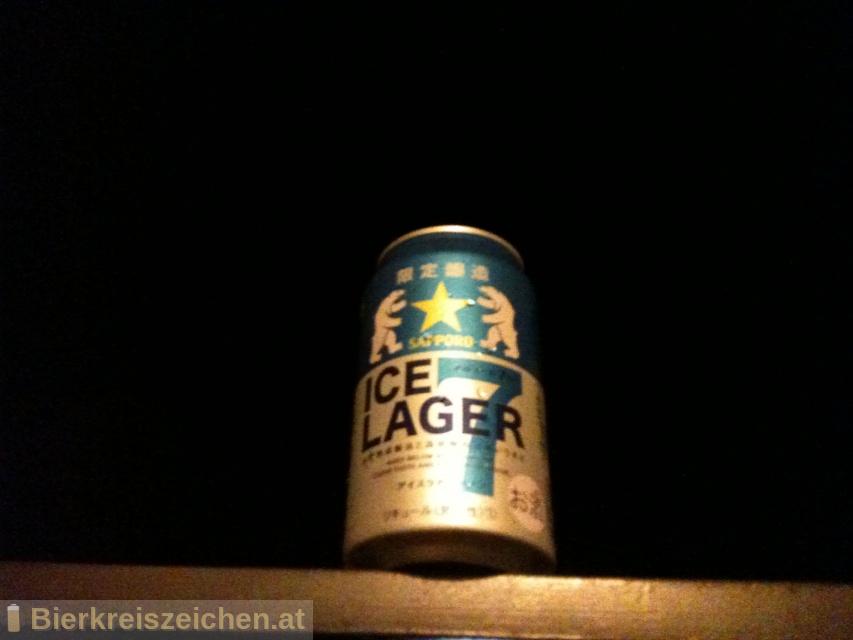 Foto eines Bieres der Marke Sapporo Ice Lager 7 aus der Brauerei Sapporo Bīru Kabushiki-gaisha
