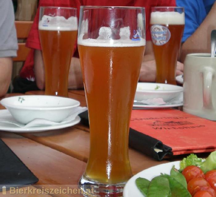 Foto eines Bieres der Marke Augustiner Weißbier aus der Brauerei Augustiner-Bräu Wagner KG