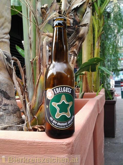 Foto eines Bieres der Marke Edelguss aus der Brauerei Brauerei Gusswerk