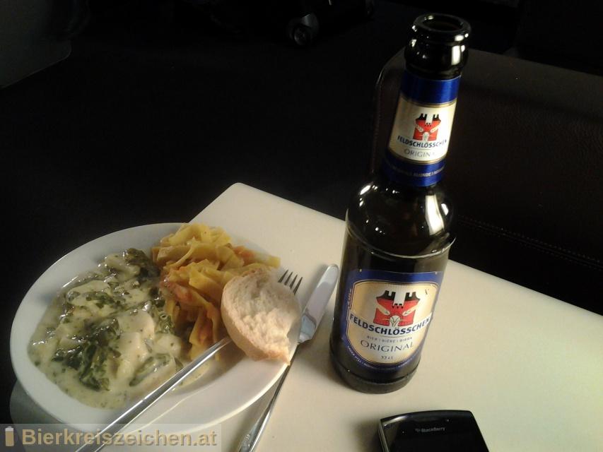 Foto eines Bieres der Marke Feldschlösschen Original aus der Brauerei Brauerei Feldschlößchen AG