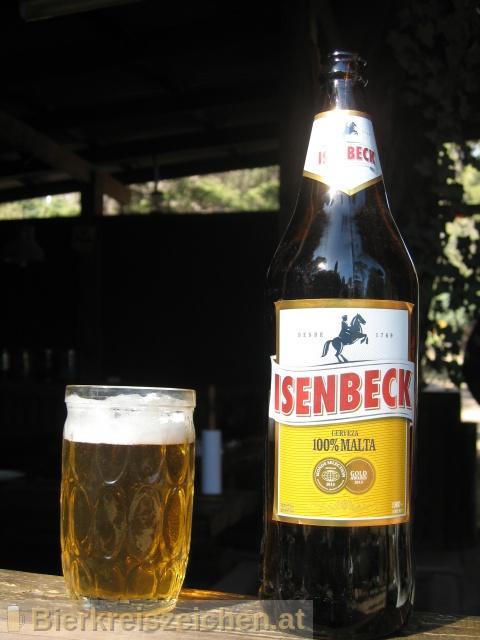 Foto eines Bieres der Marke Isenbeck Cerveza 100% Malta aus der Brauerei C.A.S.A. Isenbeck