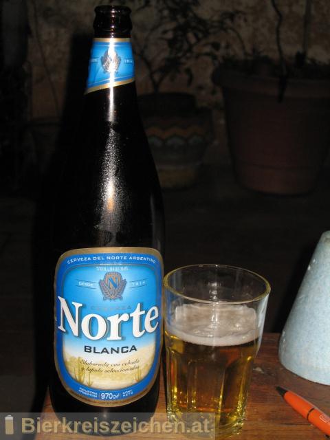 Foto eines Bieres der Marke Cerveza Norte Blanca aus der Brauerei Cervecería y Maltería Quilmes