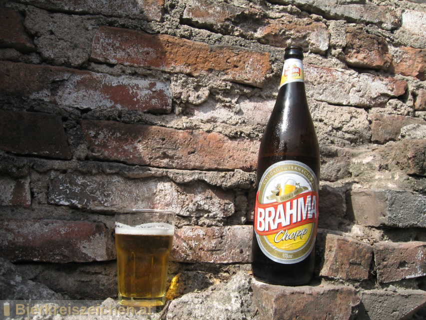 Foto eines Bieres der Marke Brahma Chopp aus der Brauerei Companhia Cervejaria Brahma