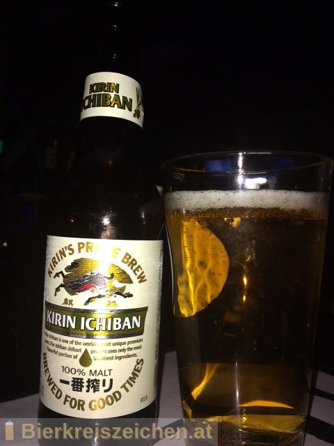 Foto eines Bieres der Marke Kirin-Ichiban aus der Brauerei Kirin