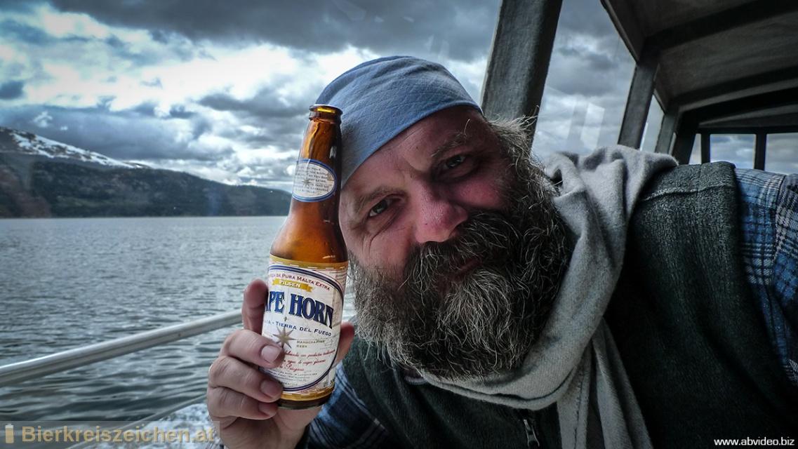 Foto eines Bieres der Marke Cape Horn Pilsen aus der Brauerei Cervecería Cape Horn