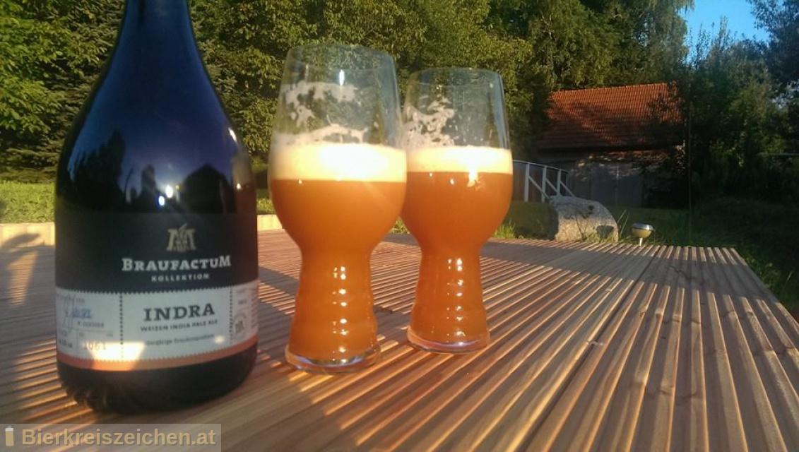 Foto eines Bieres der Marke Braufactum Indra aus der Brauerei BraufactuM